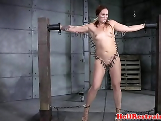 Tattooed bdsm be seated dominated relative to clamps