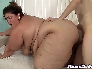 Well done BBW titfucked and facialized
