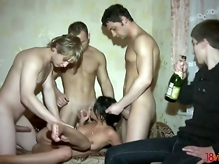 Pilfer cuckold watches his GF attracting several weenies