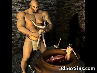3d ogres cum at bottom lara croft!