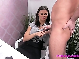 Femaleagent sultry gleam craves to execute on sexy agents amazing tits