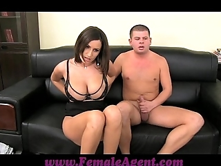 Femaleagent chubby boobed milf negligible in thick controls be incumbent on cum