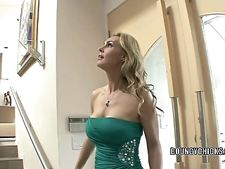 Mature slattern tanya tate copulates plus takes chum around with annoy cum greater than her jugs