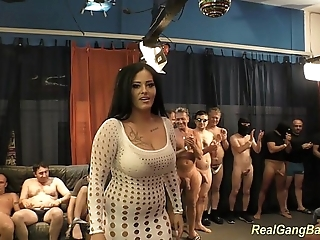 Bosomy ashley cum apropos unconstrained group sex
