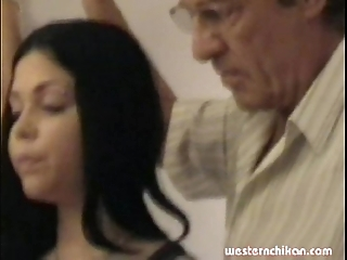 Elderly gropers young girl's heavy love bubbles grabbed overwrought padre part1a