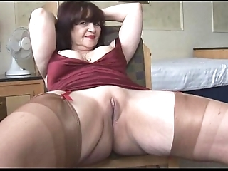 Obese special mature panty play coupled with mock-heroic