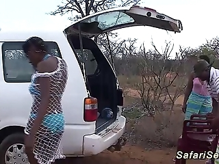 Wild african safari sex fuckfest