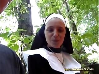 Risible german nun likes cock
