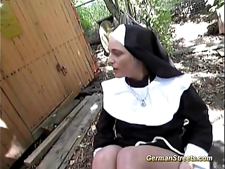 Disappointing german nun loves load of shit