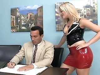 Footsex together with principle revere in cleaning man