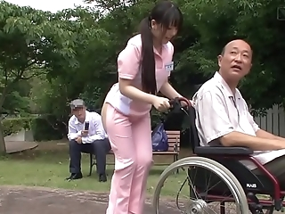 Subtitled anomalous japanese half revealed caregiver in sight