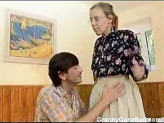 Granny got the brush puristic ancient exasperation anal screwed