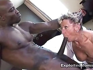 Ancient granny takes a chubby dastardly flannel to her bore anal interracial videotape