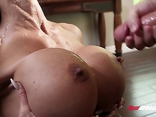 Stepmom gems gouge out shagging the brush hung stepson