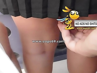 Upskirt with the addition of groping / cane groping vids