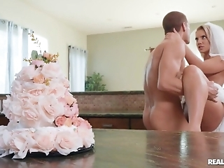 Slutty bride enjoys hardcore making love thither be passed on pantry